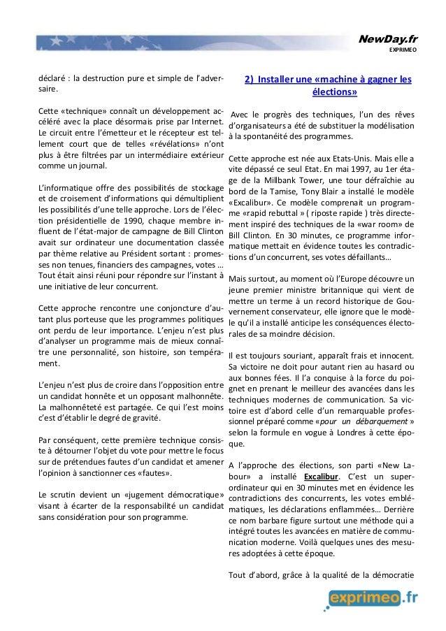 NewDay.fr EXPRIMEO déclaré : la destruction pure et simple de l'adver- saire. Cette «technique» connaît un développement a...