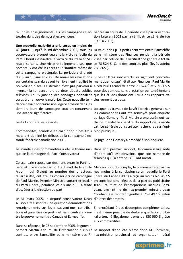 NewDay.fr EXPRIMEO multiples enseignements sur les campagnes élec- torales dans des démocraties avancées. Une nouvelle maj...