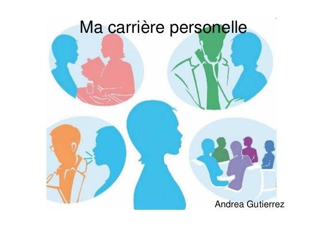 Ma carrière personelle Andrea Gutierrez