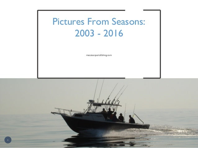 Pictures From Seasons: 2003 - 2016 macatacsportsfishing.com 3