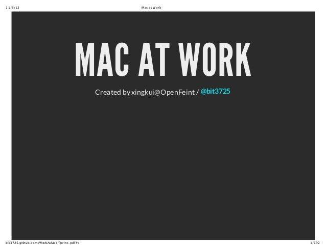 MAC AT WORK