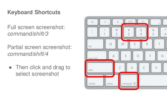 Frequently used shortcuts