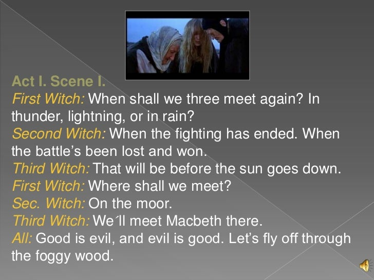 macbeth when shall we three meet again traduzione