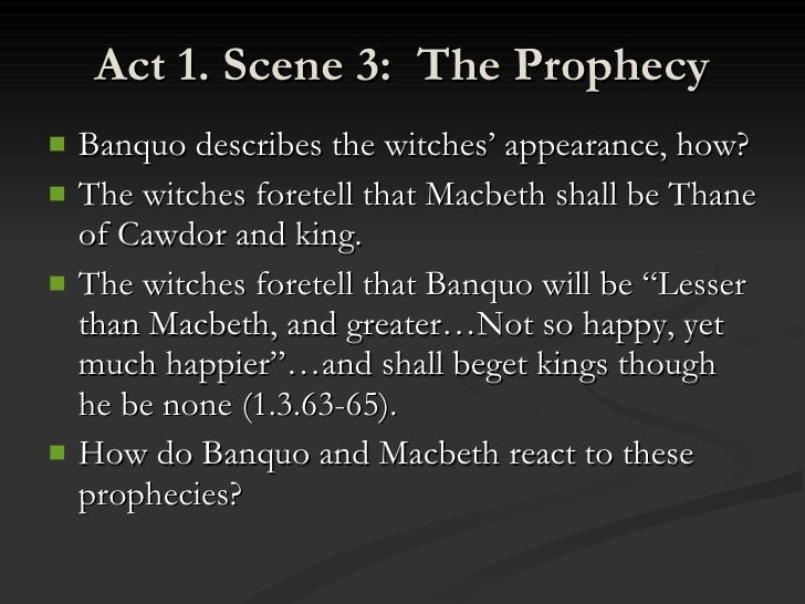 witches prophecies
