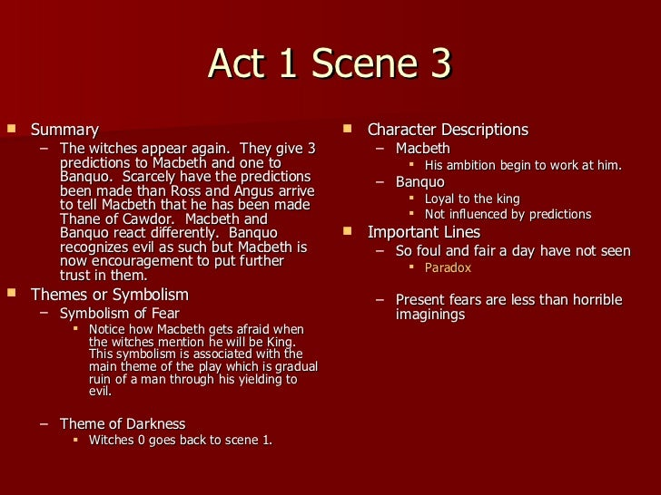 macbeth reaction report act i Throughout the play we see  in act i scene 7, macbeth  an excellent example of just how demoralised macbeth is at this stage of the play is his reaction to.