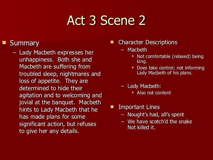 Macbeth Act 3 Notes