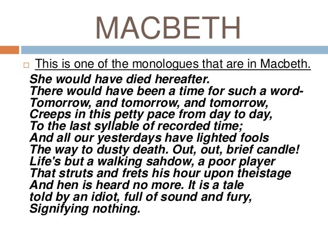 macbeth the witches and lady macbeth are responsible for macbeths death 07062013  the supernatural was an ever-present and reoccurring theme throughout macbeth, allowing not only the characters within the story, but the readers as well.