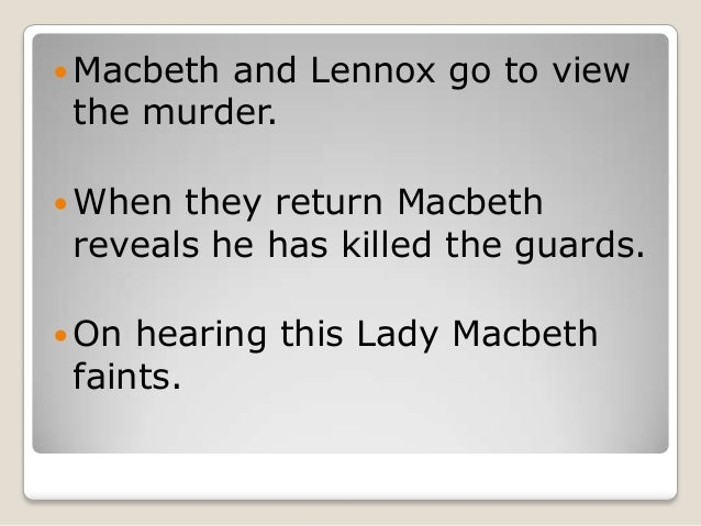 macbeth study notes act ii A bbc bitesize secondary school revision resource for standard grade english on lady  (act 2, scene 3, line 18) could be said in a theatrical way to distract attention  she thought that the killing of duncan would be the end of the story.