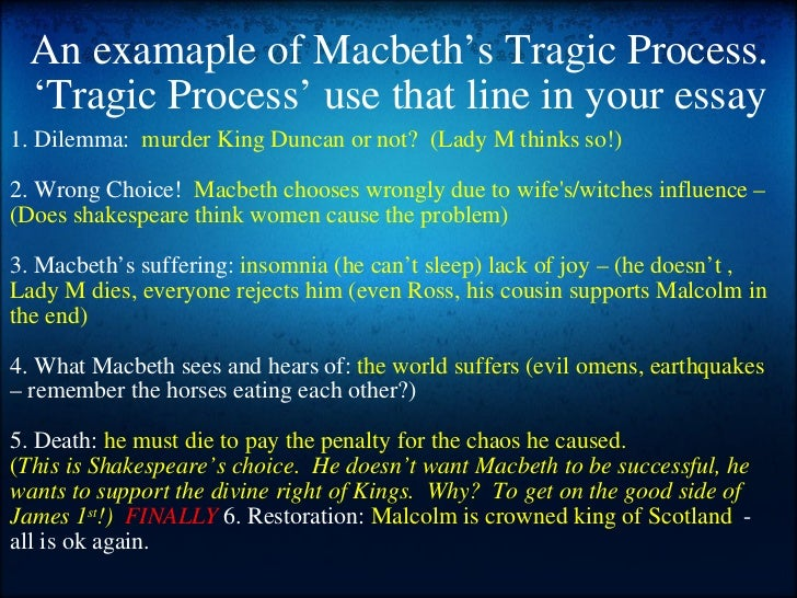 choices essay on macbeth William shakespeare (26 april 1564 - 23 april 1616) was a great and extremely skillful english writer he composed numerous poems and plays that influenced artists, poets, philosophers and thinkers all over the world one of his most successful plays, the tragedy of macbeth, was written between.