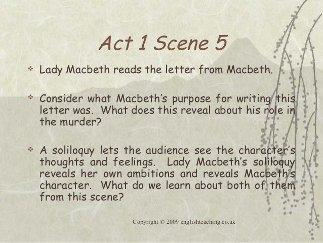essay on macbeth act 1 Detailed summary of macbeth , act 1, scene 6 hoboys and torches enter king duncan, malcolm, donalbain, banquo, lennox, macduff, ross, angus, and attendants: in this short little scene, nothing much happens, except that the lamb is brought to the door of the slaughter-house king duncan is most gracious and kind to.