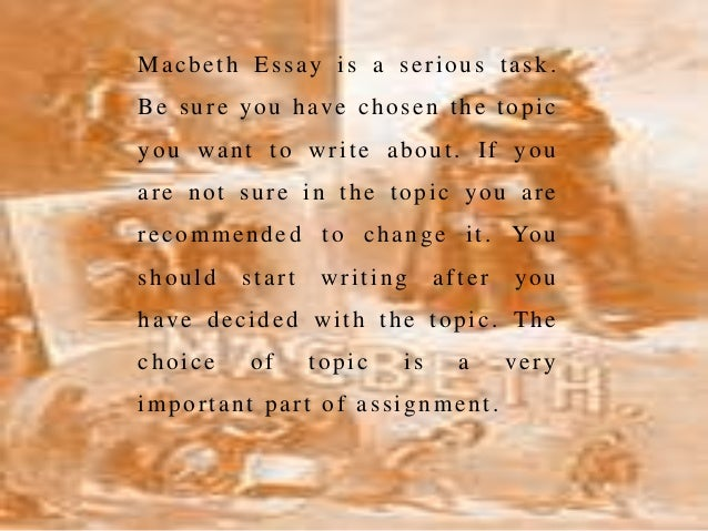 higher english essays on macbeth Shakespeare is revered as the bard and one of the most important english writers of all time an essay on one higher and provide you with a macbeth essay can.