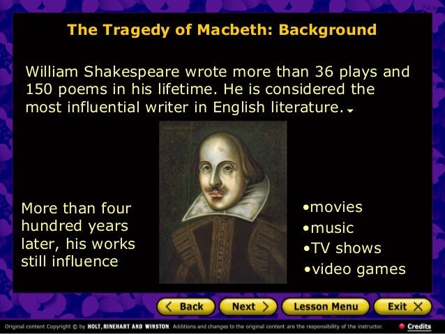 """an examination of the power of influences in william shakespeares macbeth It's no secret that netflix's original series """"house of cards"""" is greatly influenced by  shakespeare in fact, in an interview with the baltimore sun,."""
