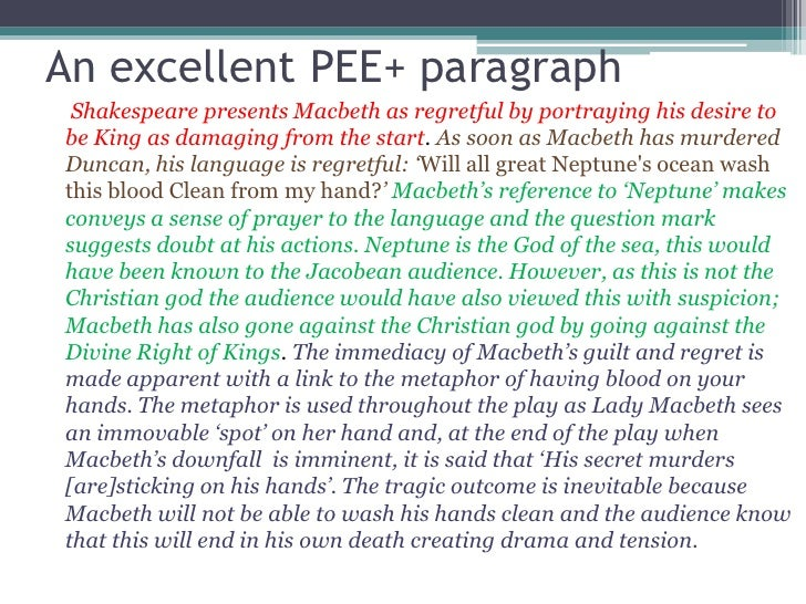 writing a pee paragraph