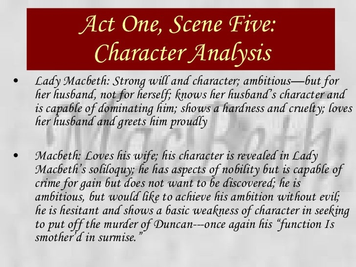 macbeth power point  43 act one scene five character analysis
