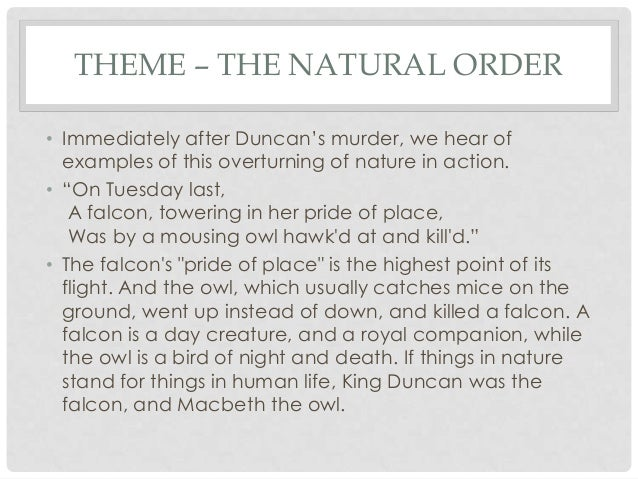 Macbeth essay natural order