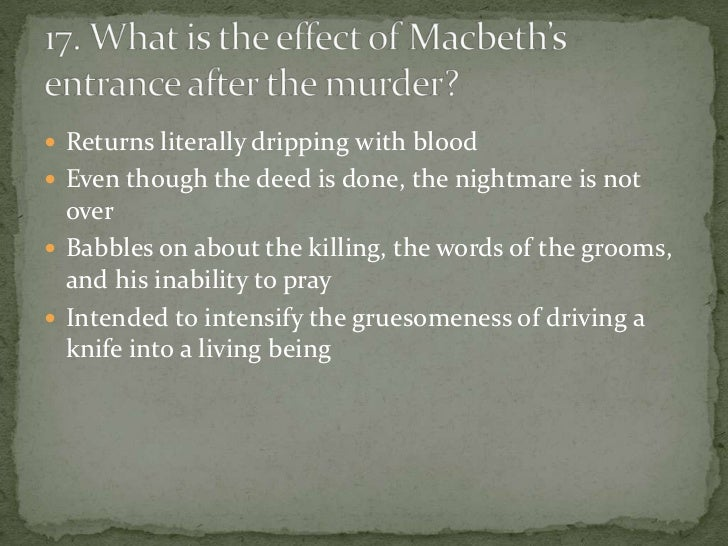 the role of guilt in macbeth Look, his guilt is too powerful, and too closely intertwined with his  michael  masiello, function is smothered in surmise, and nothing is but.