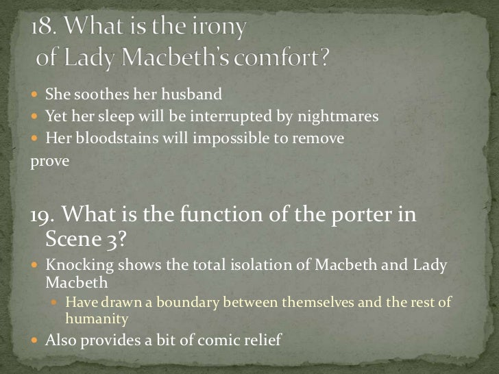 Macbeth disorder of the universe