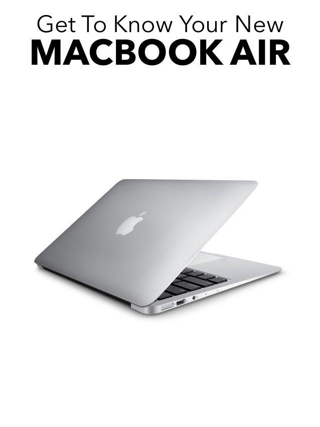 macbook air user guide 2016