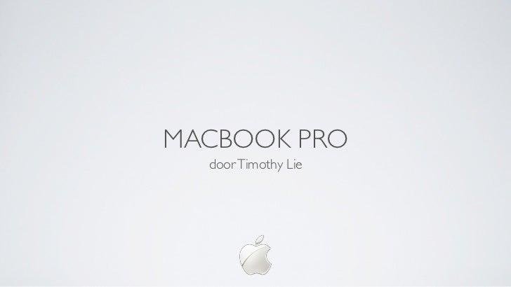 MACBOOK PRO  door Timothy Lie