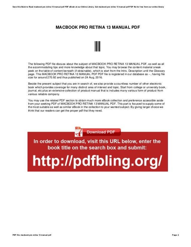Mac pro 2010 manual pdf