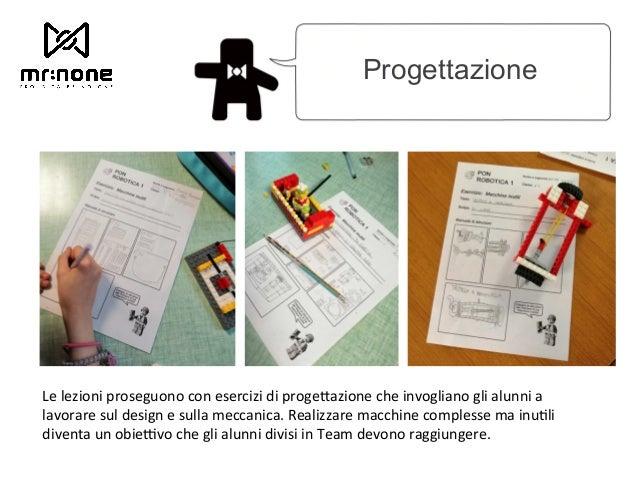 Progettazione Le lezioni proseguono con esercizi di proge@azione che invogliano gli alunni a lavorare sul design e sulla ...