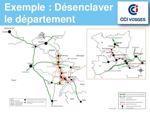 Exemple : Désenclaverle département           2x2 voies pour la          Une gare d'interconnexion          RN 66 vers l'A...
