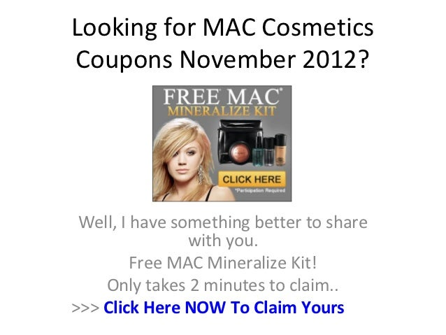 mac cosmetics coupons november 2012. Black Bedroom Furniture Sets. Home Design Ideas