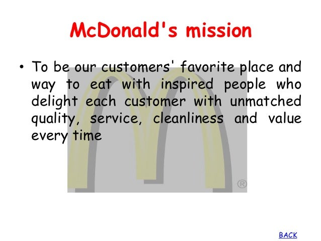mcdonalds mission and vision marketing essay Importance of vision, mission, and values in strategic direction - james tallant - essay - business economics - company formation, business plans - publish your.