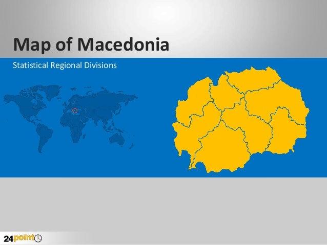 Map of Macedonia Statistical Regional Divisions