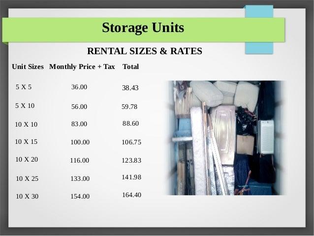 Attrayant Storage Units RENTAL SIZES U0026 RATES ...