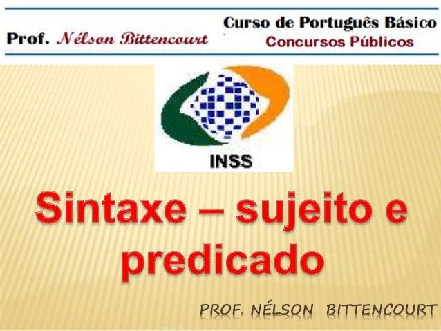 PROF. NÉLSON BITTENCOURT