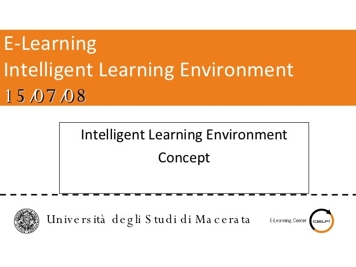 Intelligent Learning Environment Concept