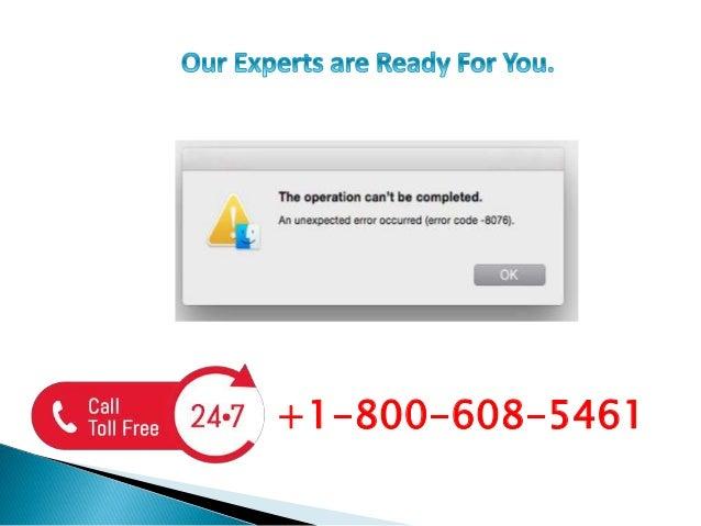 Fix Apple Mac Error Code -8076