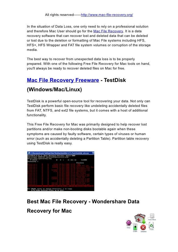 Mac file recovery freeware