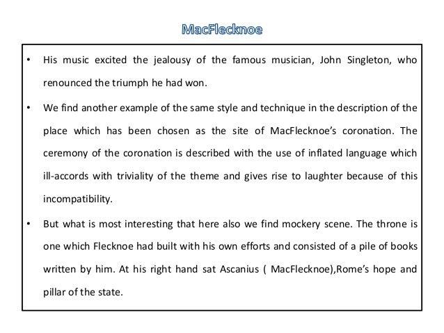 john dryden mac flecknoe essay