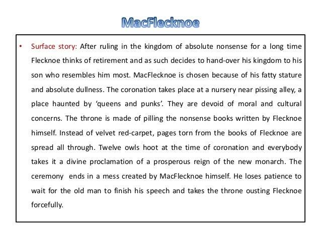 mac flecknoe essay