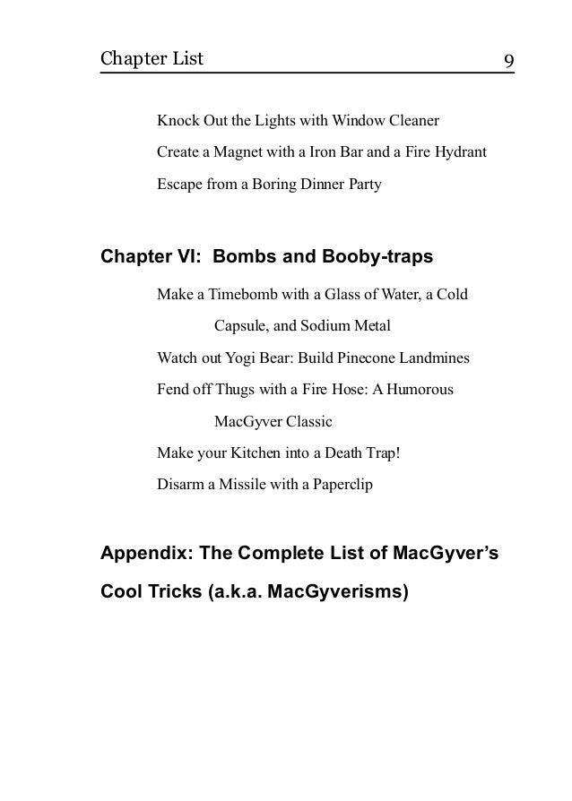 Macgyver How To Handbook