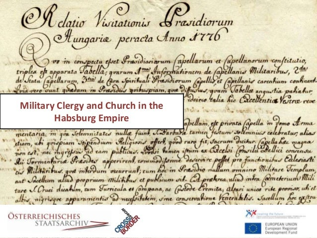 Military Clergy and Church in the        Habsburg Empire