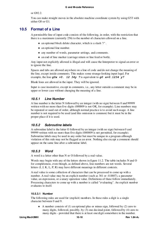 mach g code language reference  initial letters 7
