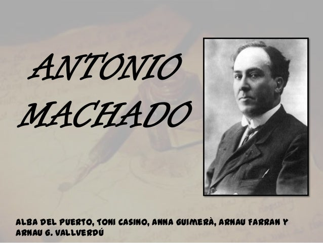 ANTONIO MACHADO Alba del Puerto, Toni Casino, Anna Guimerà, Arnau Farran y Arnau G. Vallverdú