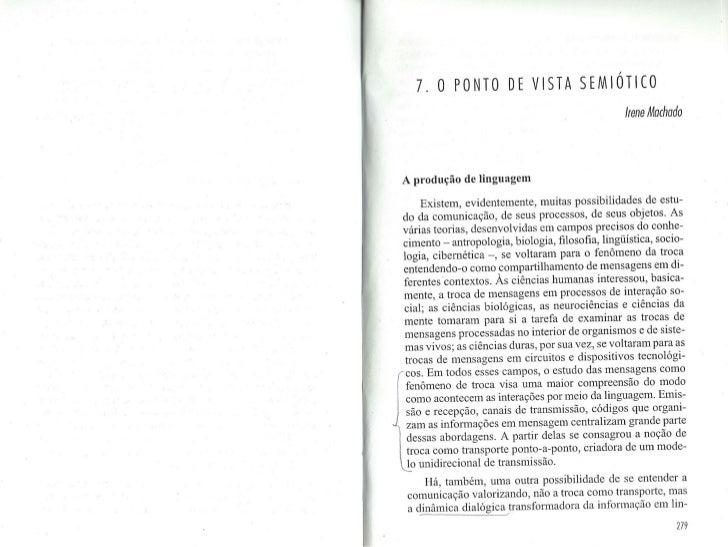 Machado, Irene - O ponto de vista semiótico