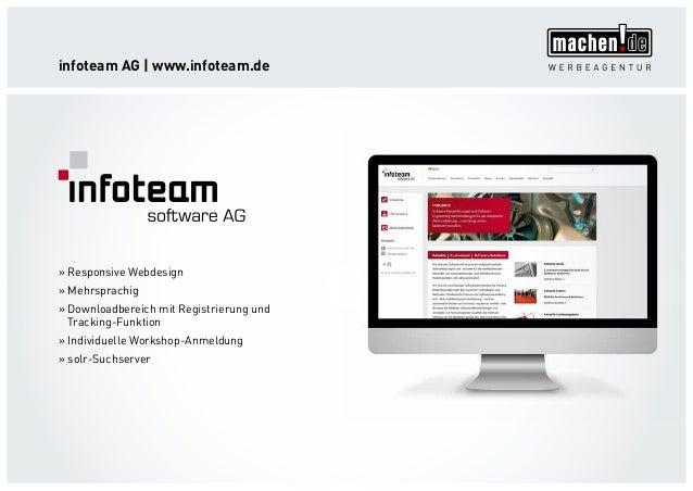infoteam AG   www.infoteam.de »» Responsive Webdesign »» Mehrsprachig »» Downloadbereich mit Registrierung und Tracking-Fu...