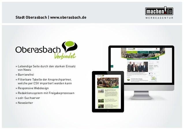 Stadt Oberasbach   www.oberasbach.de »» Lebendige Seite durch den starken Einsatz von News »» Barrierefrei »» Filterbare T...