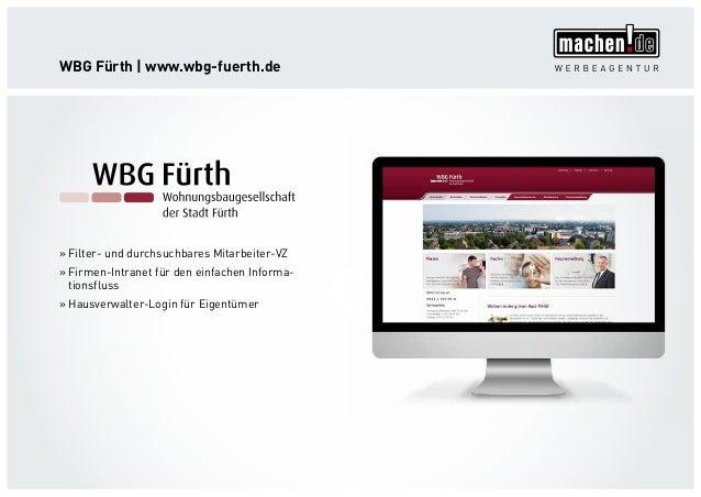WBG Fürth   www.wbg-fuerth.de »» Filter- und durchsuchbares Mitarbeiter-VZ »» Firmen-Intranet für den einfachen Informa- t...