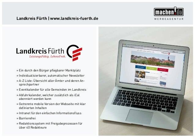Landkreis Fürth   www.landkreis-fuerth.de »» Ein durch den Bürger pflegbarer Marktplatz »» Individualisierbarer, automatis...