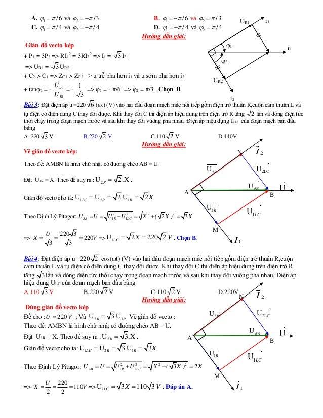 A. 1 /6  và 2 /3   B. 1 /6   và 2 /3  C. 1 /4  và 2 /4   D. 1 /4   và 2 /4  Hướng dẫn giải: Gi...