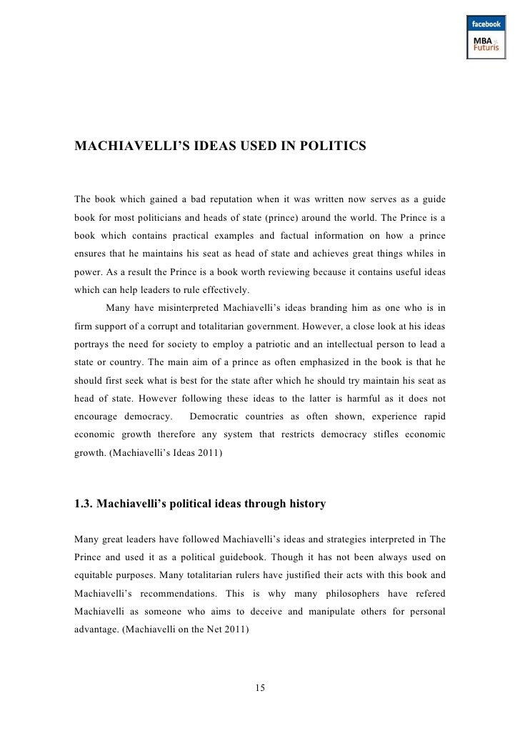 an analysis of machiavellis the prince Plot summary of the prince by niccolò machiavelli the prince notes & analysis the free the prince notes include comprehensive information and analysis to help.