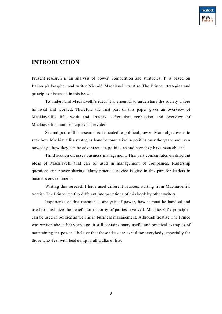 machiavelli leadership essay