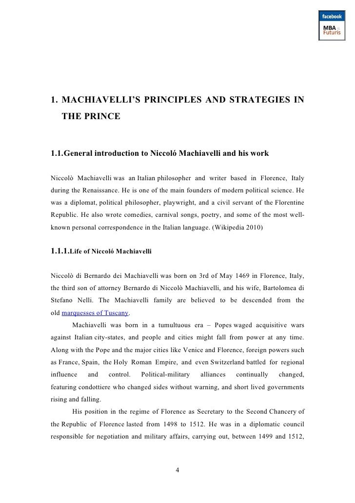 Analysis Of The Prince By Niccolo Machiavelli Pdf