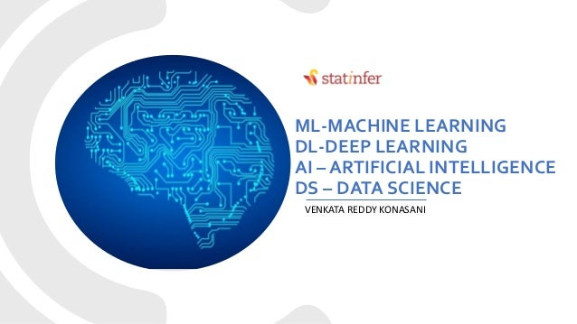 ML-MACHINE LEARNING DL-DEEP LEARNING AI – ARTIFICIAL INTELLIGENCE DS – DATA SCIENCE VENKATA REDDY KONASANI